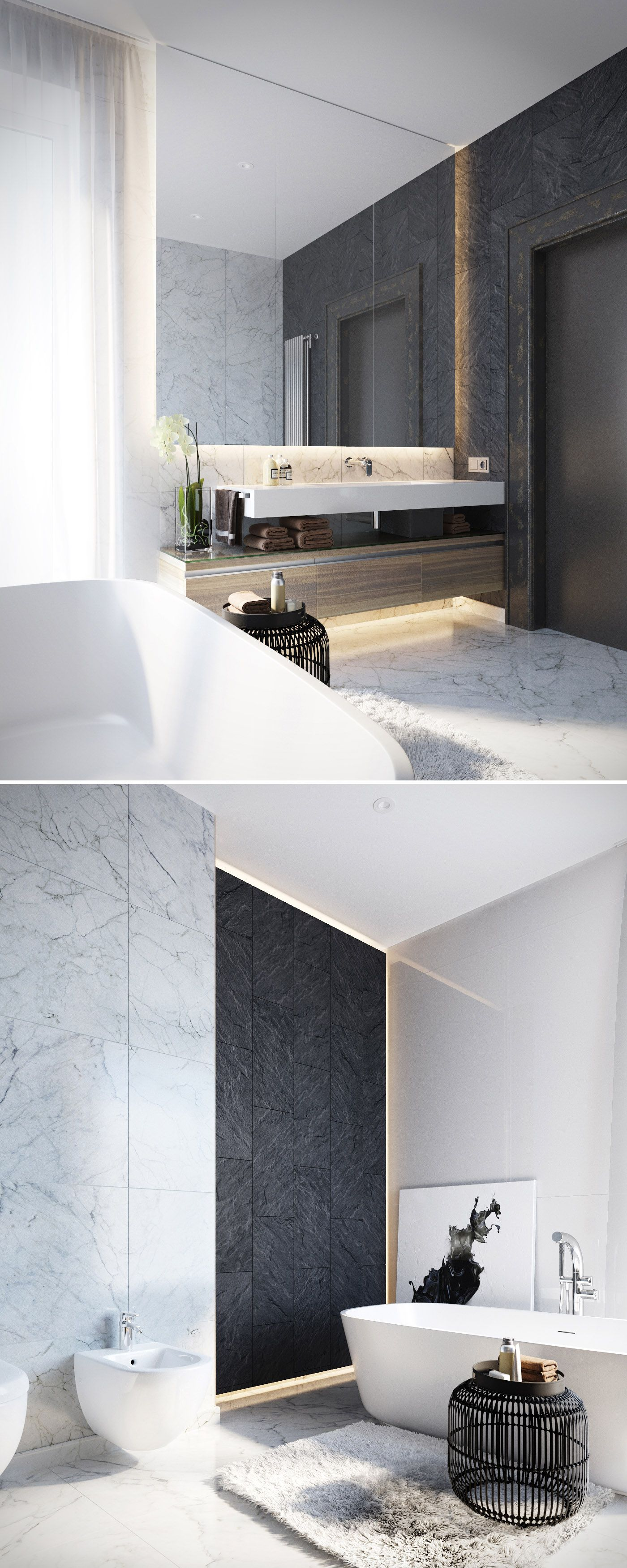 INTERIOR + BATHROOMS | Lovely use of bringing the mirrors to the ...
