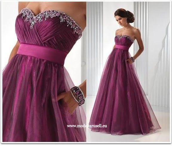 event mode abendkleid lang in violett  kleider für bälle