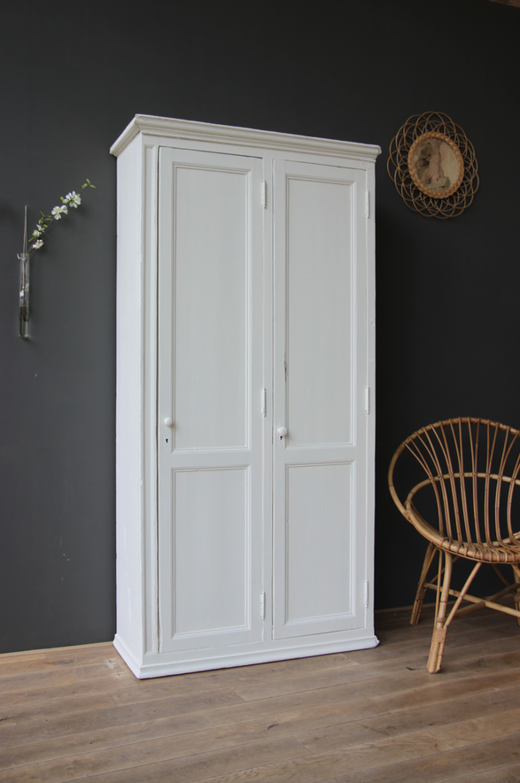 Armoire Double Blanche Petite Belette Relooking