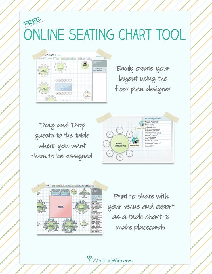 Free online seating chart planner make copies to go over with parents and in laws notes for special needs of  guest vegetarian allergies etc also rh pinterest
