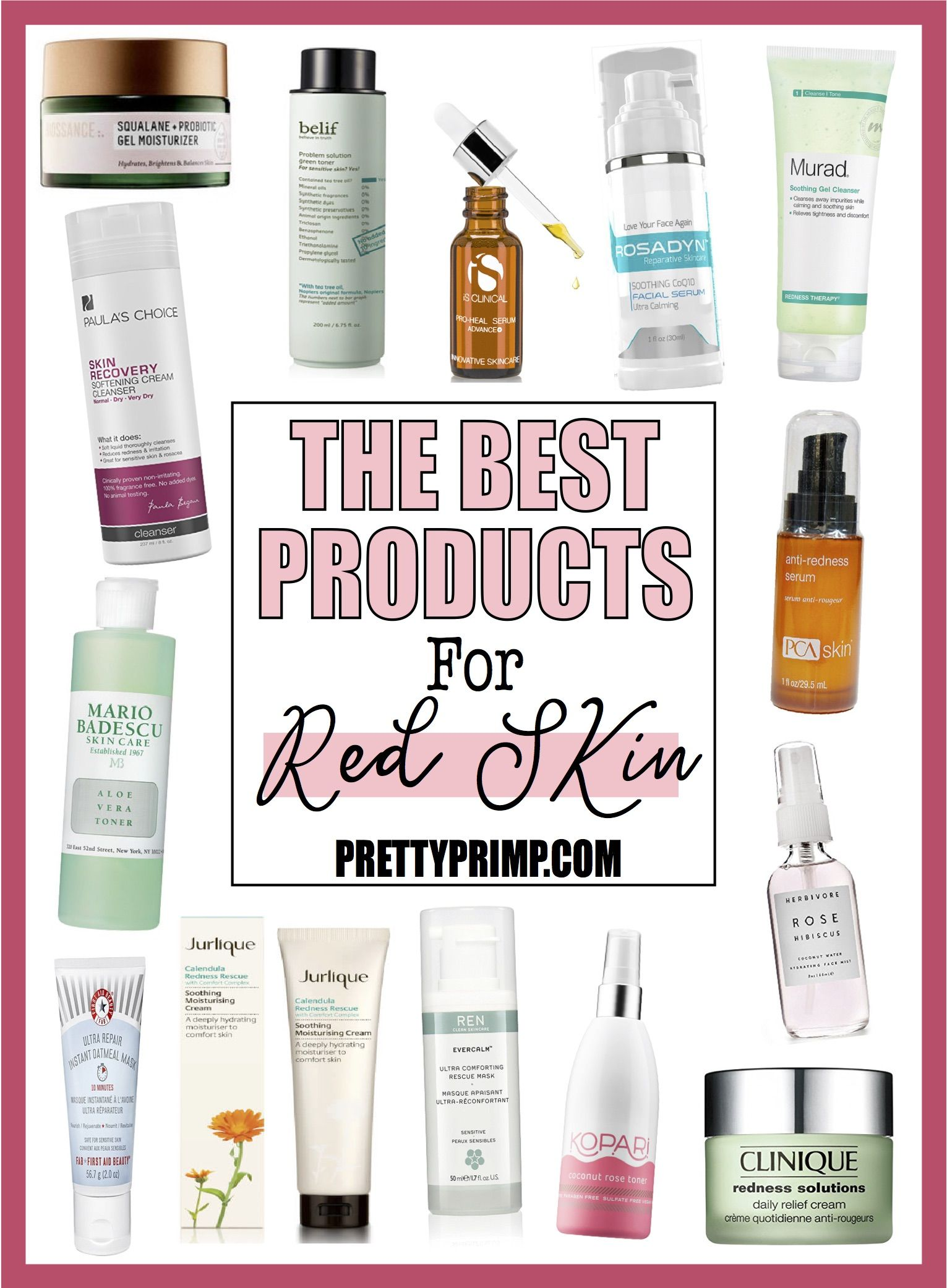 15 Best Products For Facial Redness To Soothe Calm Your Skin Large Pores Skin Care Tips Skin Care