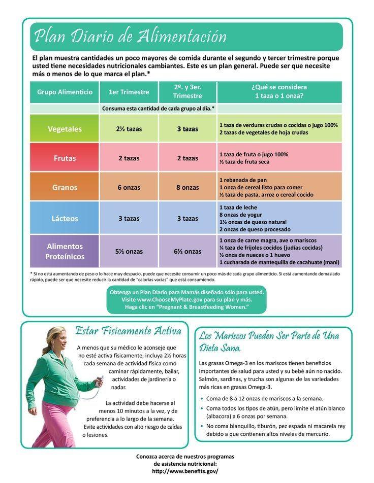 Plan de alimentaci n en el embarazo embarazo y el bebe pinterest alimentacion en el - Alimentos buenos en el embarazo ...