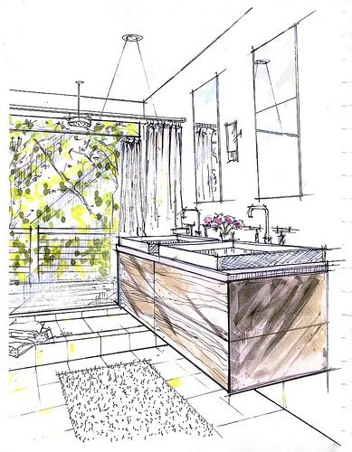 bathroom concept rendering. (via hrrrthrrr) | Interior ...