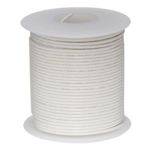 a 24 awg gauge stranded hook up wire white 25 ft 00201
