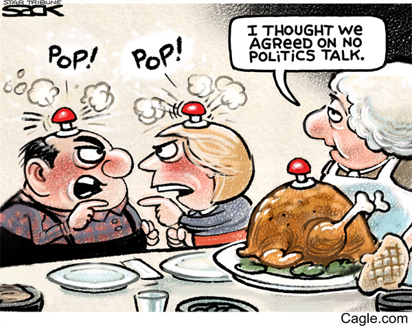 Friday, November 25, 2016 - View more Opinion Cartoons here: http://www.norwichbulletin.com/photogallery/CT/20161101/PHOTOGALLERY/110109997/PH/1 #Opinion #Cartoon #Comic #Politics