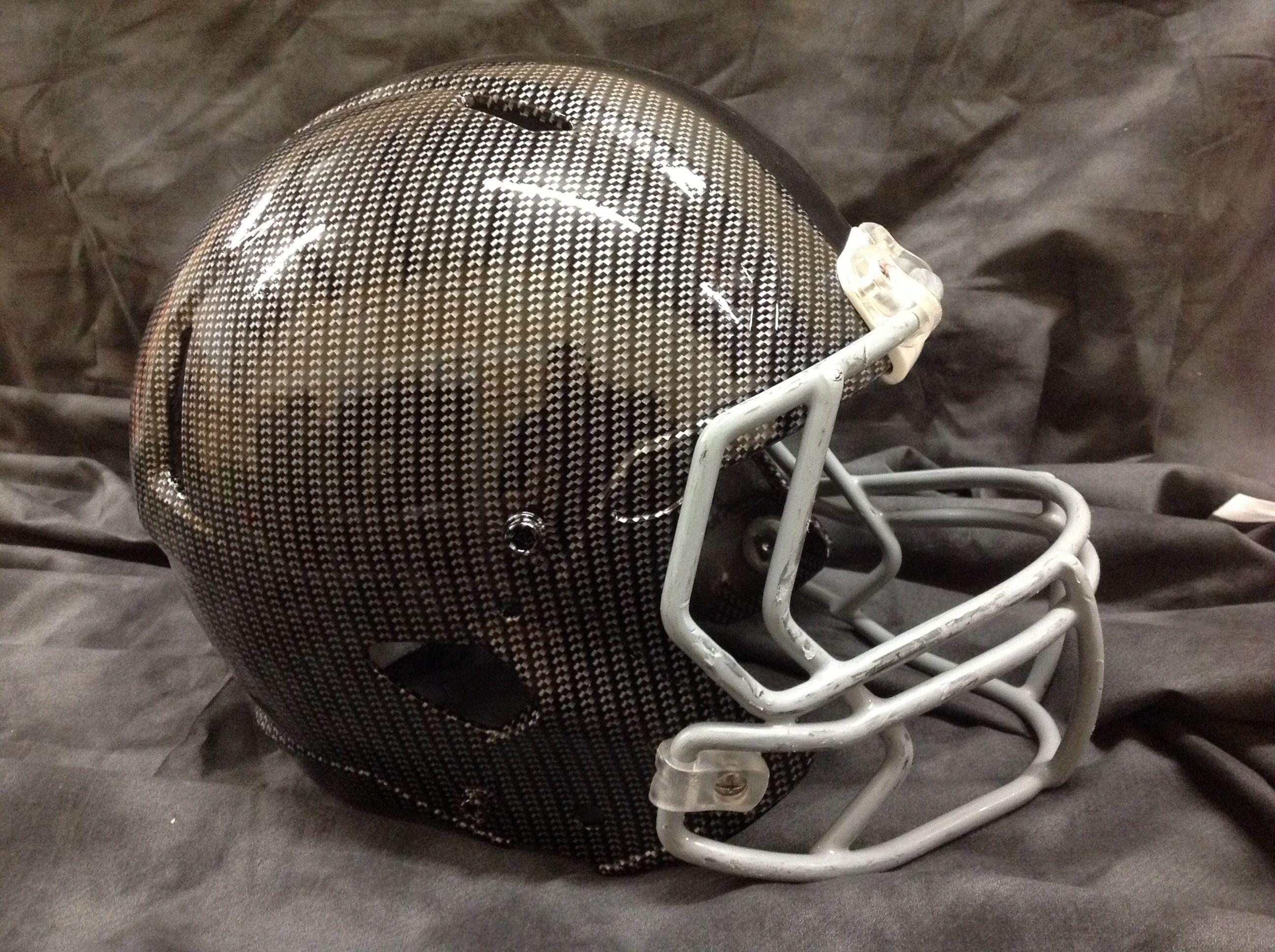 Carbon fiber football helmet by dip daddys el paso tx