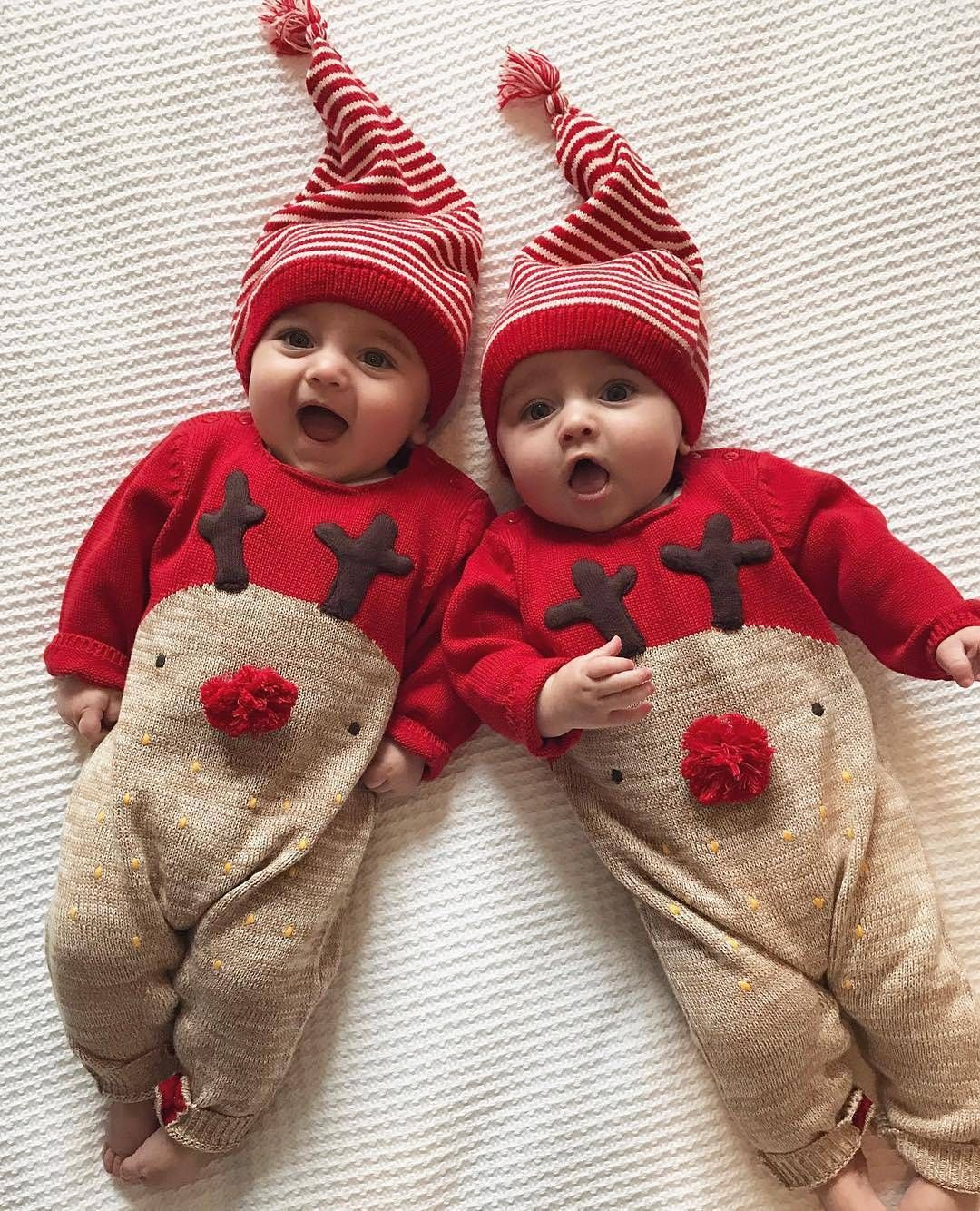 fd578e040cfa Adorable twin baby boys ready for their first Christmas  multiples  twins   twinlife