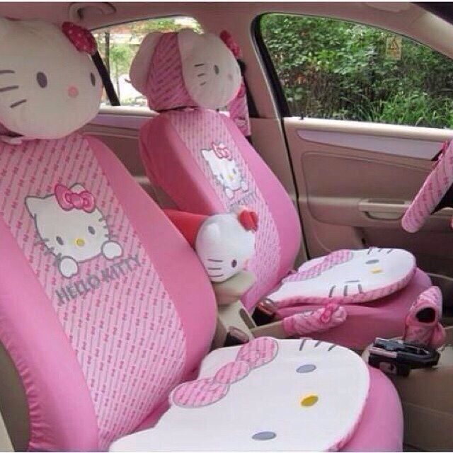 hello kitty car interior oh wow kawaii pinterest hello kitty car car interiors and girly. Black Bedroom Furniture Sets. Home Design Ideas