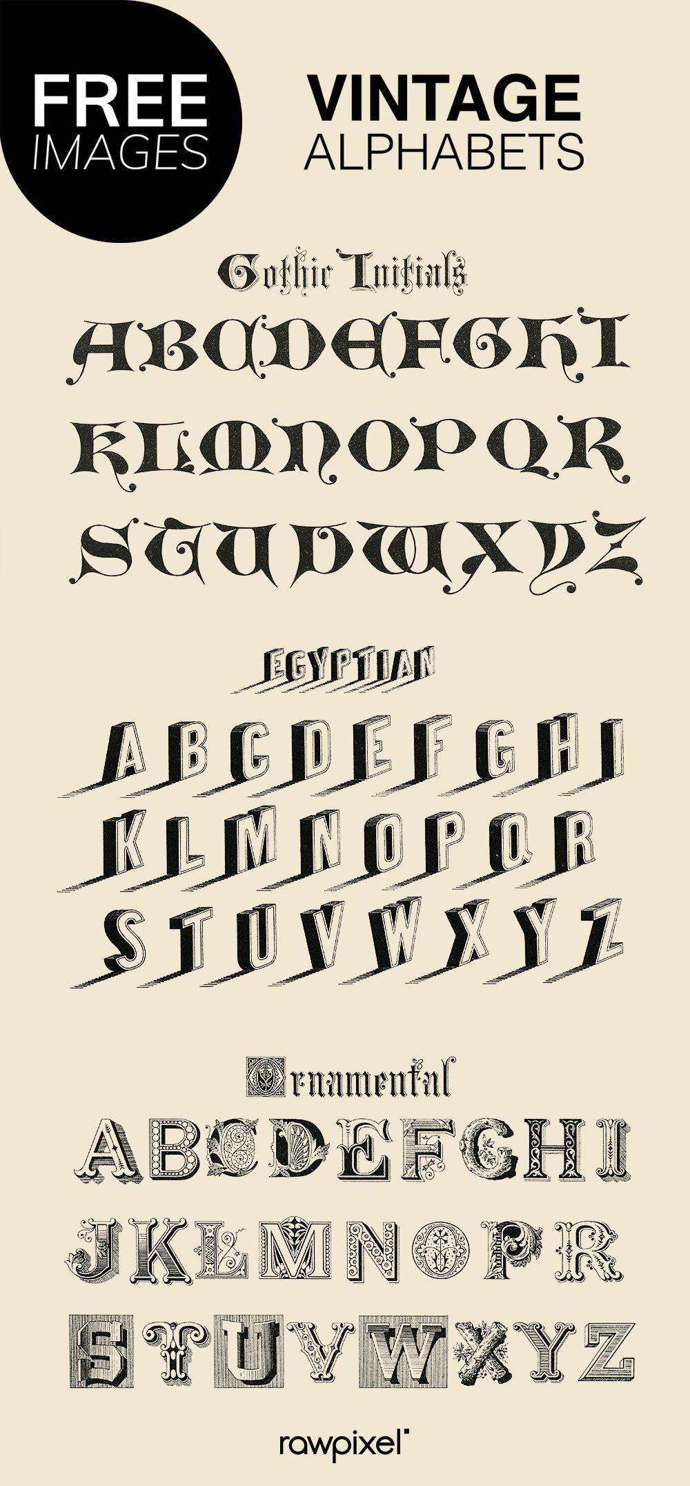 Download Free Vectors Of Vintage Fonts And Latin Alphabets At Rawpixel Com Web Layout Design Minimalist Web Design Simple Web Design