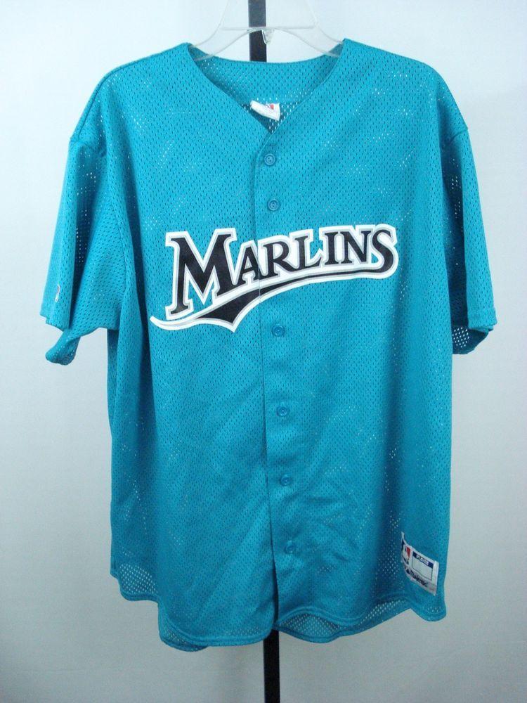 finest selection d42d1 05575 Miami Marlins Jersey XL MLB Baseball 5 Logo Blue Florida 90s ...