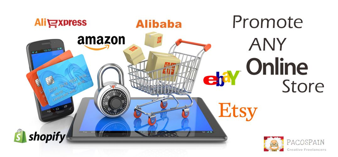 Promote Any Online Store Like Ebay Etsy Shopify Amazon Etc