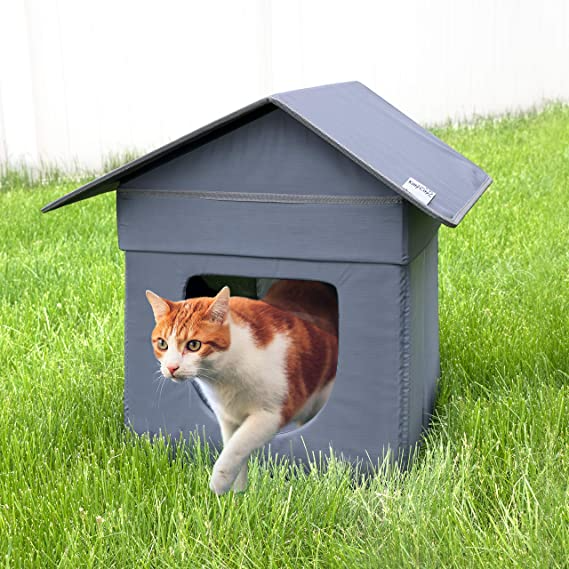 Kitty City Outdoor Cabin Cat House Cat Cube Water Resistant Condo Brown Cm 10081 Cs01 Pet Sup In 2021 Outdoor Cat House Cat Houses Indoor Cat House