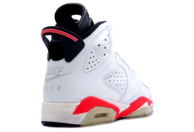 Air Jordan 6 (VI) Original (OG) - White / Infared - Black • KicksOnFire.com