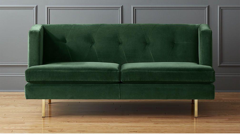 Avec Apartment Sofa Brass Legs Apartment Sofa Cool Couches