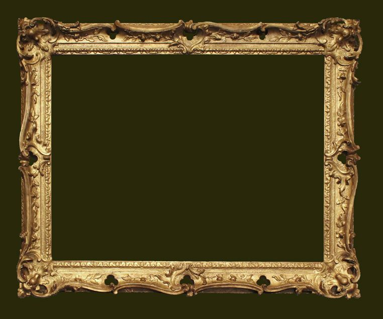 English 18c Swept And Pierced Rococo Frame 34 X 24 1 4 86 62 Cms