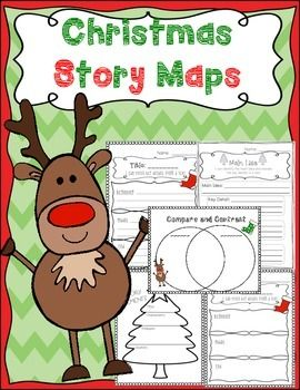 Christmas Story Map Templates Main Idea And Key Details