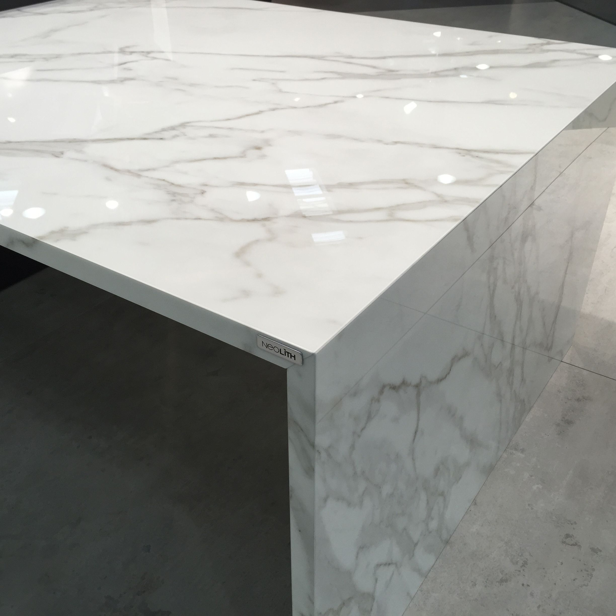 Carrara Marble Kitchen Benchtops: *gasp* An Excellent Calcutta Marble Maintenance Free Alternative! Neolith Calacatta Polished