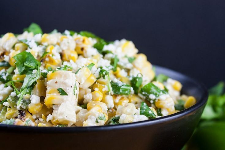 Grilled Mexican Street Corn Salad - A tantalizing combination of sweet, savory, ... #mexicanstreetcorn Grilled Mexican Street Corn Salad - A tantalizing combination of sweet, savory, ... #mexicanstreetcorn