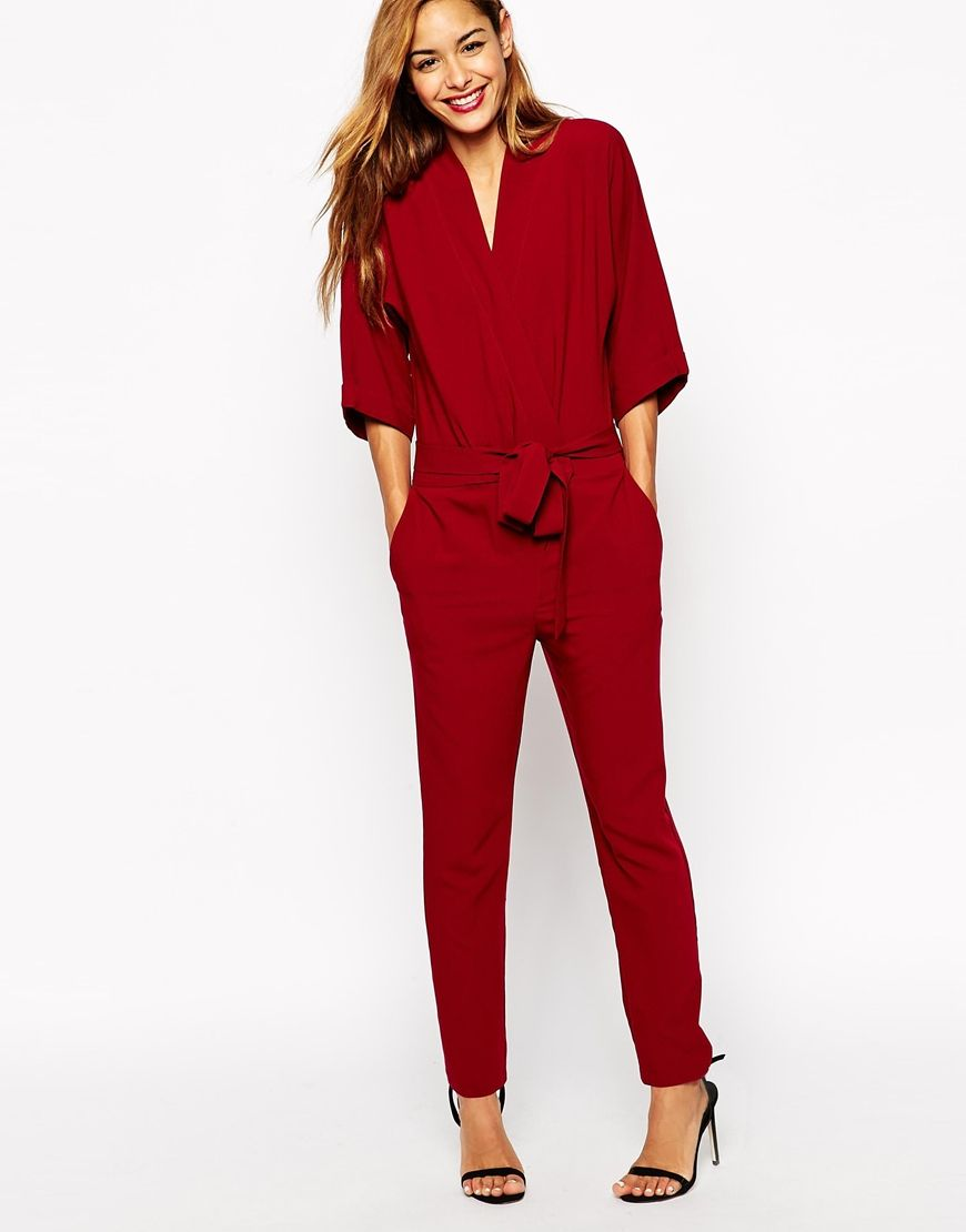 ASOS Jumpsuit With Tie Waist And Long Sleeves | Threads AA Likes ...