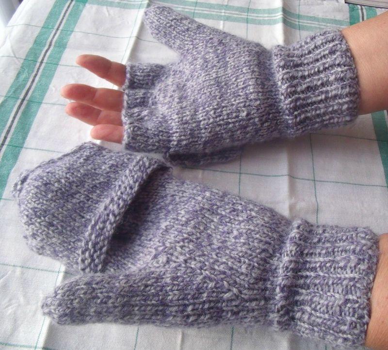 69abc0204b4 Mitaines à capuchon (épisode 2). - L atelier tricot de Mam  Yveline ...
