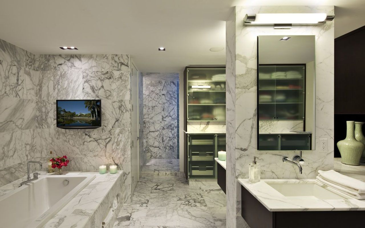 modern house interior design bathroom