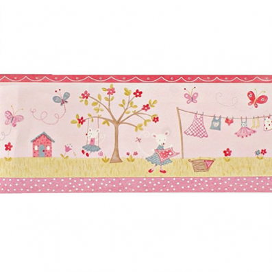 Cenefa papel pintado infantil primavera lollipops camengo for Cenefas papel pintado