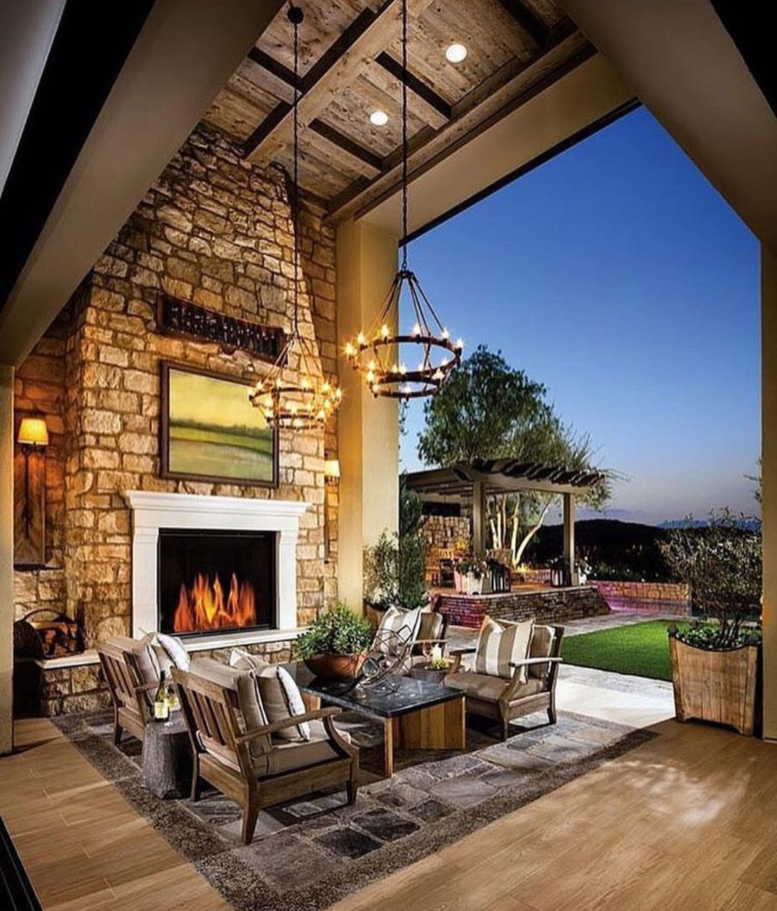 outdoor seating with fireplace indoor outdoor living outdoor living design outdoor kitchen on outdoor kitchen and living space id=52660