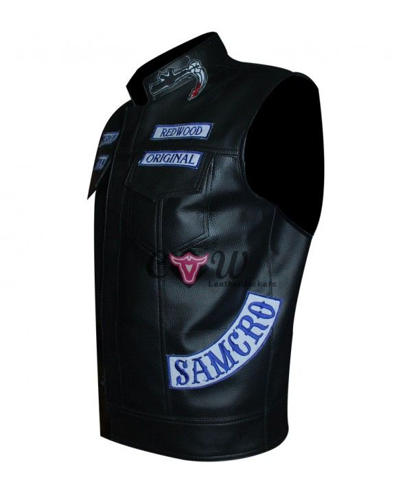 e054dde4a Sons Of Anarchy Jax Teller Biker Vest   Sons Of Anarchy Biker Vest ...