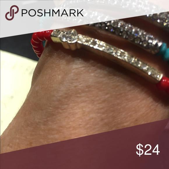 Stretch bracelets Set of 3 with rhinestones Jewelry Bracelets