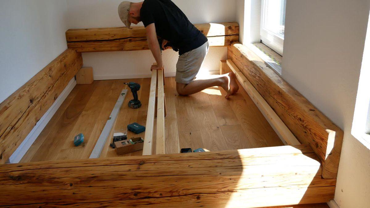 Balkenbett – Bett selber bauen – made by myself