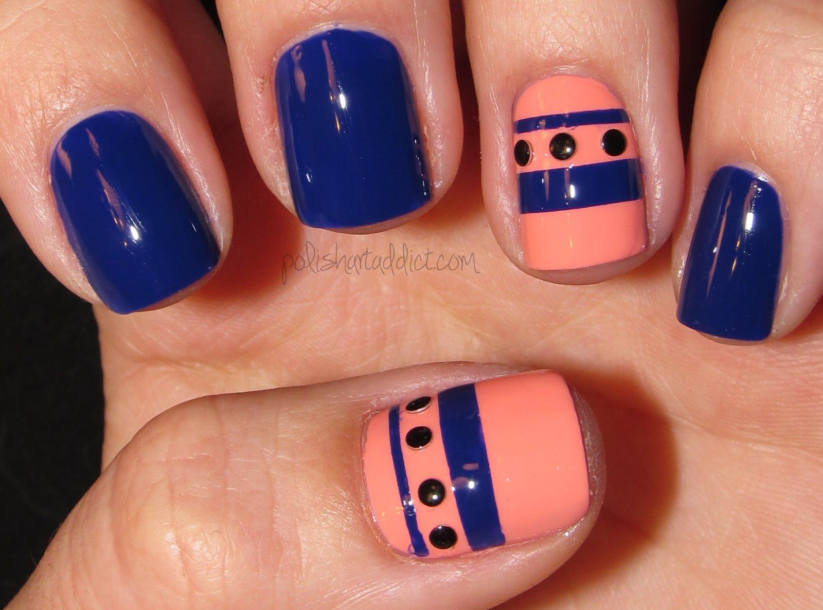 Polish Art Addict: coral   ✿ Beautiful Nail Looks ✿   Pinterest ...