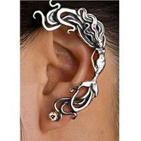 Wish | Hot 1PC Punk Rock Crystal Mermaid Cuff Wrap Ear Clip Silver/Gold Plated Stud Earring