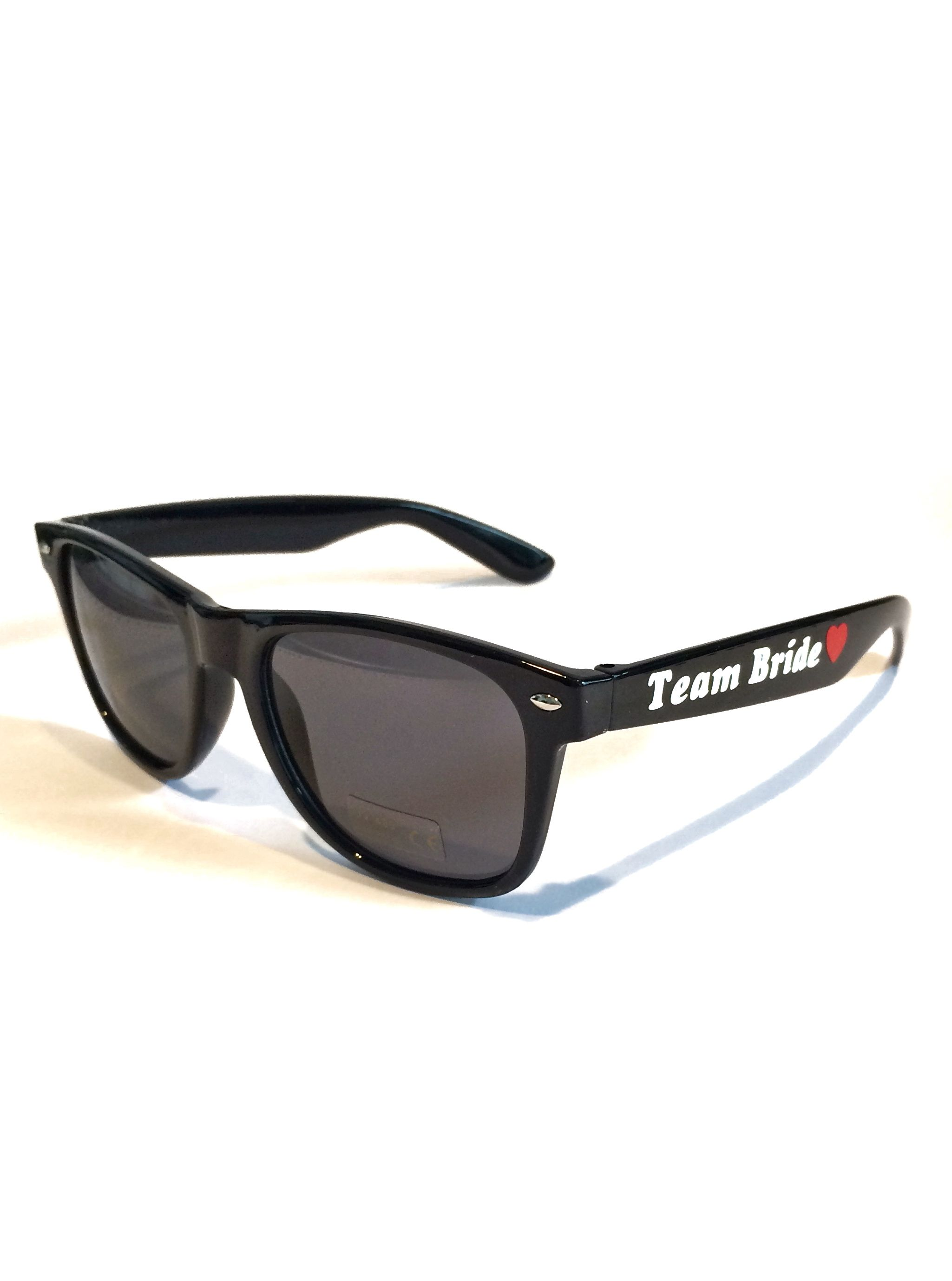 Cheap wedding sunglasses black with customized text ideal for beach ...