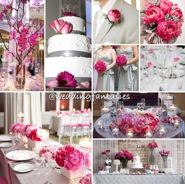 Pink, White Wedding Themes, Pink
