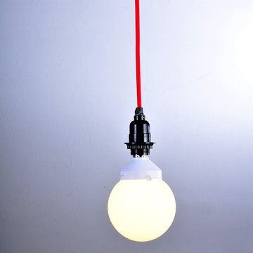 Found by Fab: Hanging Lamp Cord Kit Red Overhead light cord, pop of color
