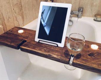 Bath Board Bath Tray Book Holder Tablet Holder Phone Holder Birthday Gift Bath Caddy Wine Hold