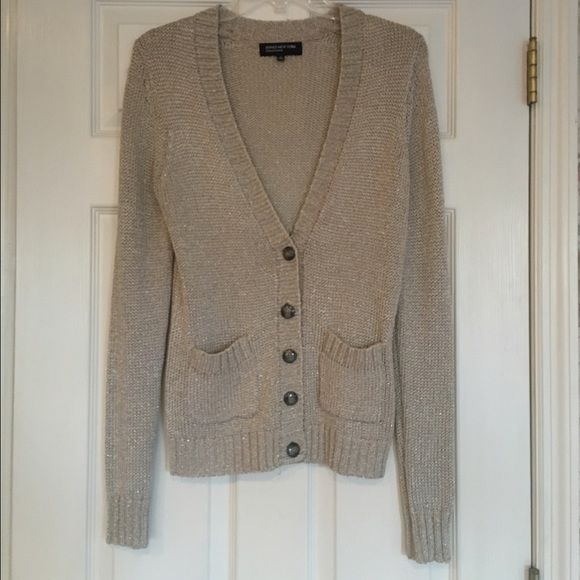 Gold Sparkle Cardigan Shimmery gold cable knit cardigan. EUC ...