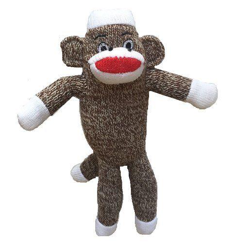 Pet Qwerks 10 Classic Brown Sock Monkey Leroy Super Soft Plush