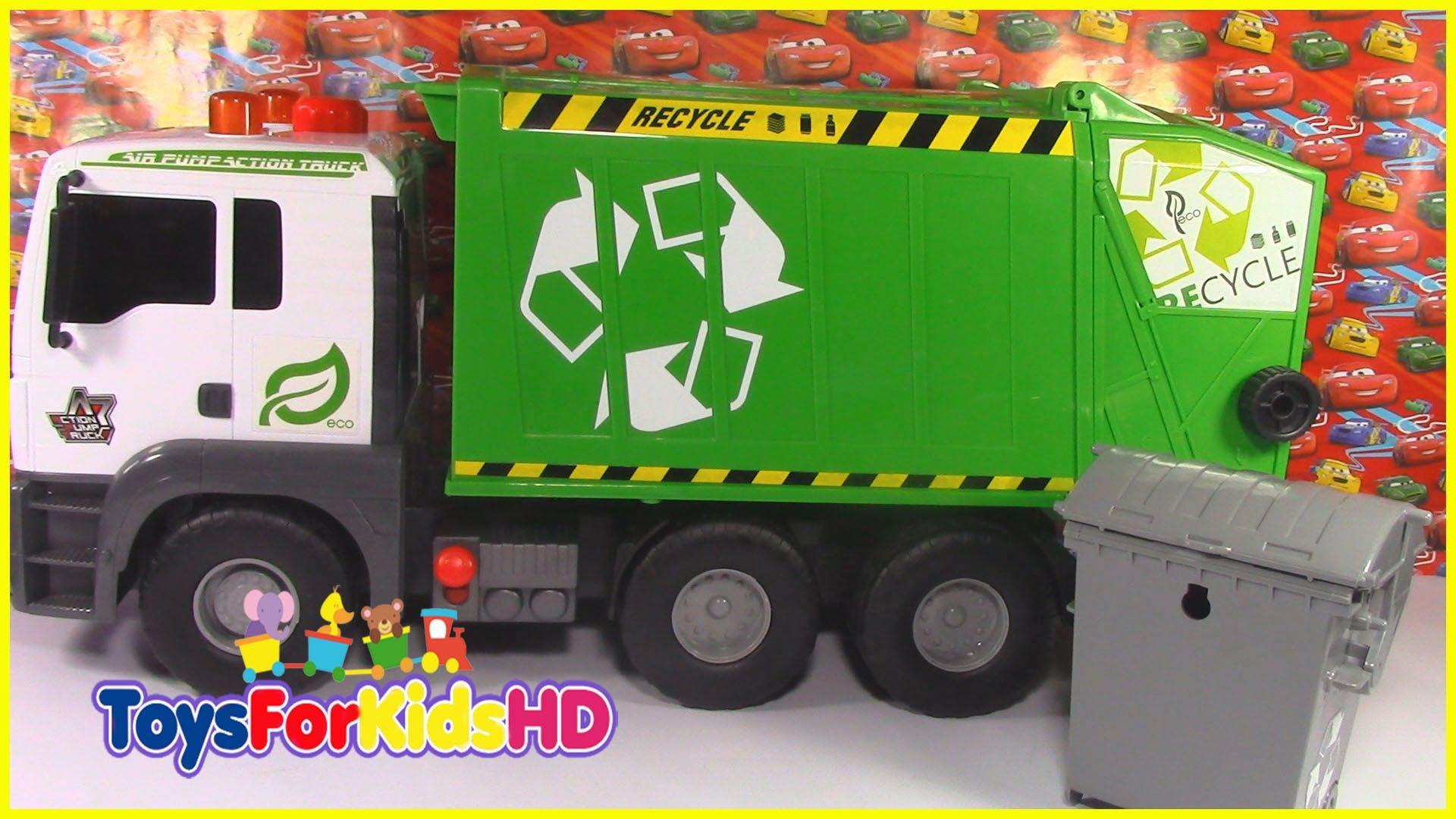 Carros Para Ninos Camion De Reciclaje Juguetes Para Ninos Camion Recolector De Basura Reciclaje Juguetes Juguetes Para Ninas Manualidades Con Palitos De Helado