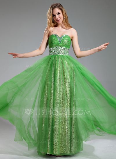 Prom Dresses - $142.99 - A-Line/Princess Sweetheart Floor-Length Tulle Prom Dress With Ruffle Beading (018018877) http://jjshouse.com/A-Line-Princess-Sweetheart-Floor-Length-Tulle-Prom-Dress-With-Ruffle-Beading-018018877-g18877