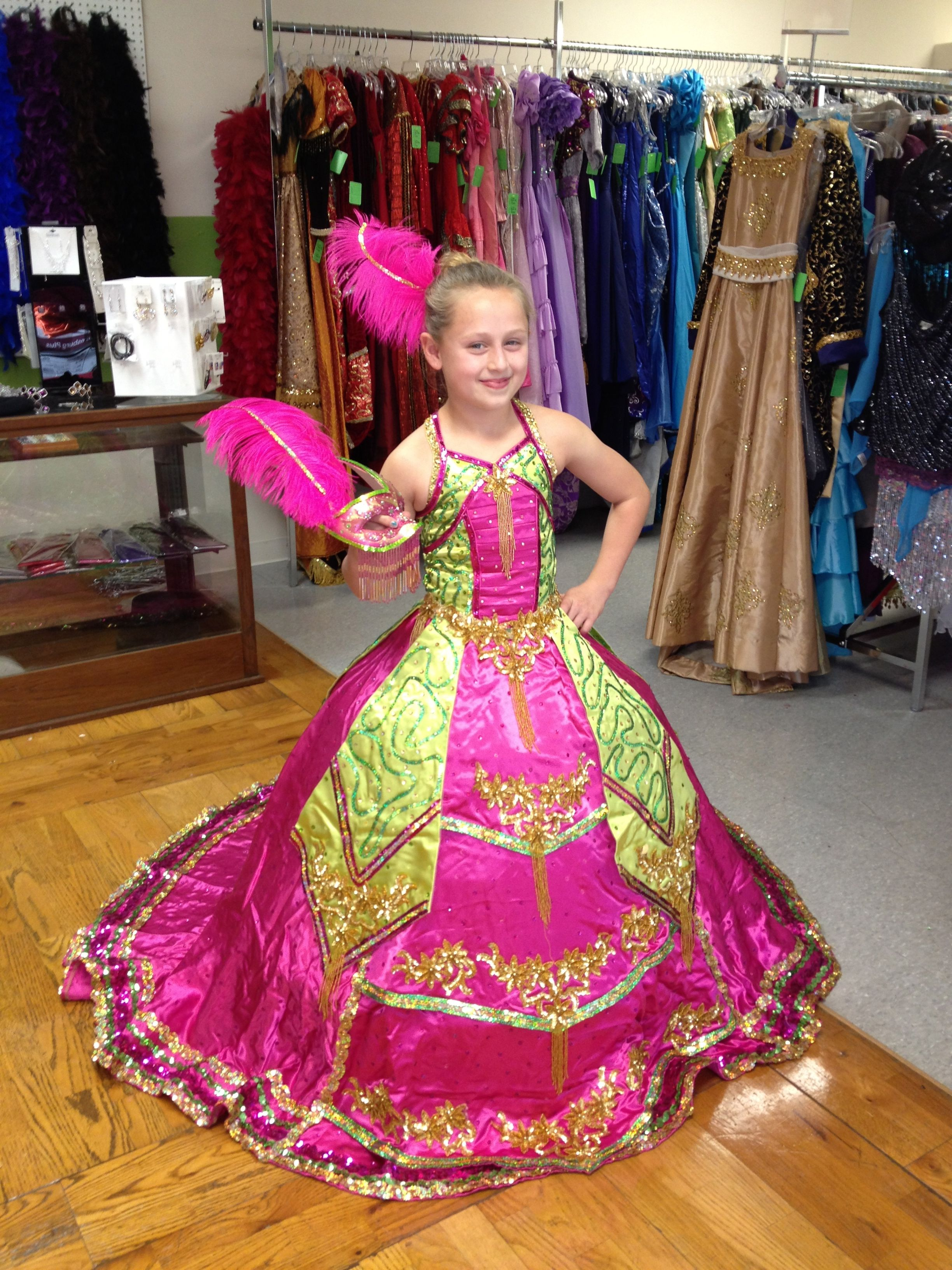 Gorgeous Ball Gown made for a young princess in a Mardi Gras Ball in ...