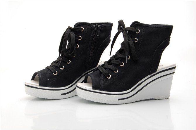Sneaker Heels Wedge | Tsaa Heel