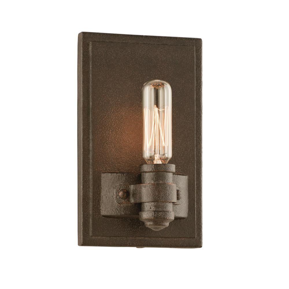 Bathroom Wall Sconces Bronze lighting pike place 1-light shipyard bronze wall sconce