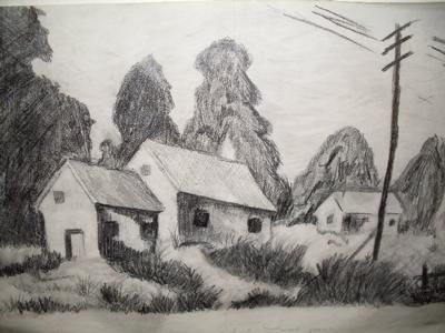 Landscape pencil drawings google search