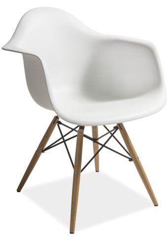 Mondi Stuhl Retro Chair Loft Industrial Design Abs Schale Weiss