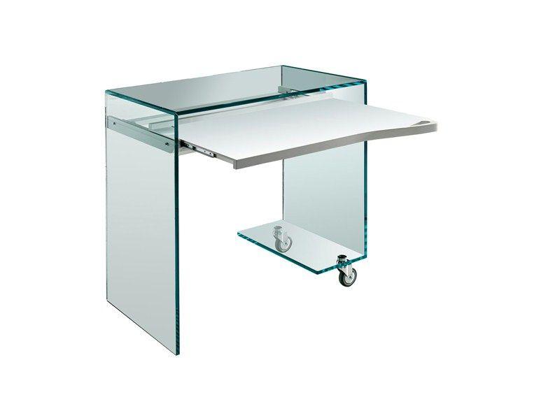 Escritorio de vidrio para PC WORK BOX by T.D. Tonelli Design ...