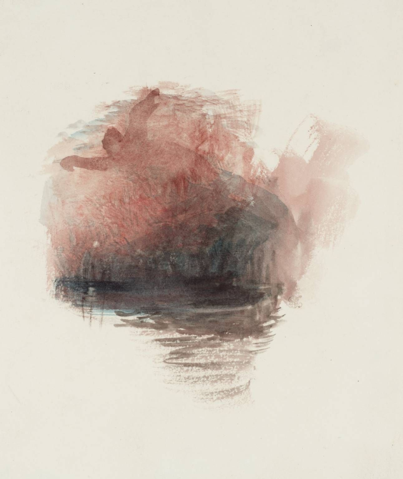 J. M. W. Turner: Study for A Tempest, Rogers's 'Poems' c.1830-2.