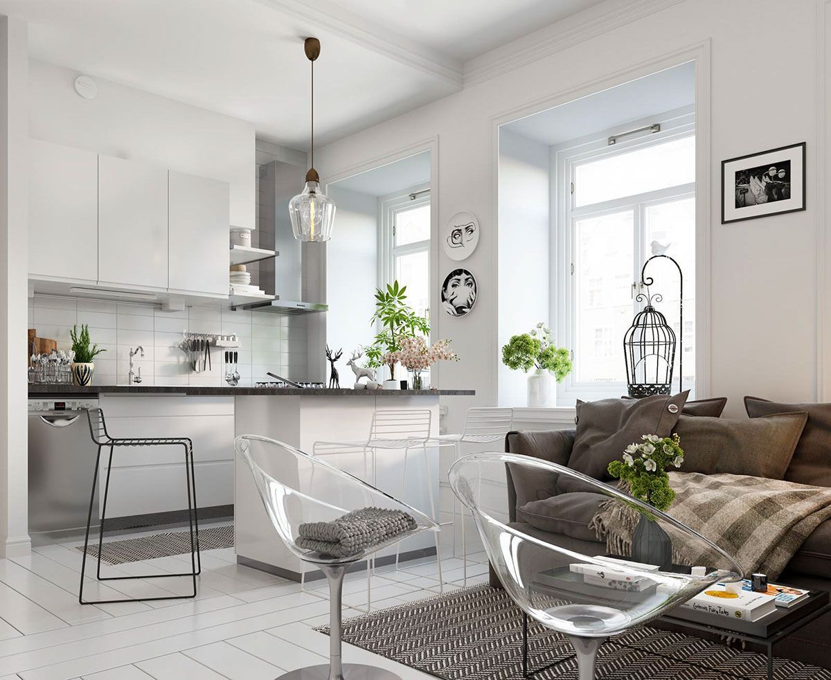 Bright Scandinavian Decor In 3 Small One Bedroom Apartments White