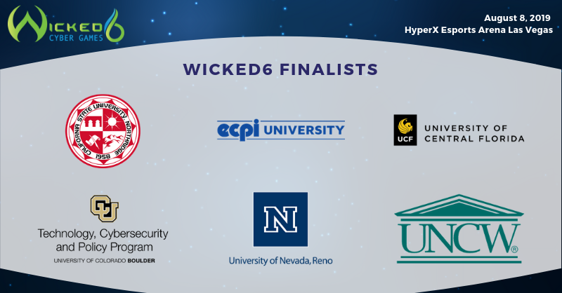 Final Six Teams Will Compete Onstage August 8 2019 In Las Vegas To Raise Funds For Women And Girls In Central University Cyber Security University Of Florida