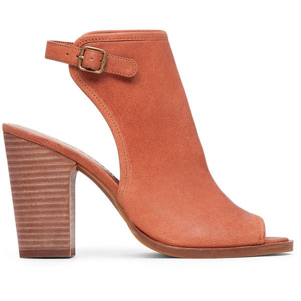 Lucky Brand Lisza Heeled Sandal ($109) ❤ liked on Polyvore featuring shoes,  sandals